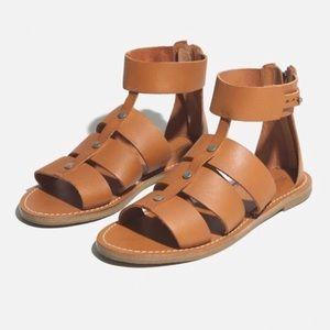 MADEWELL | ROWAN gladiator leather sandals 8.5
